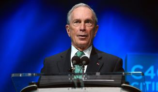 """Michael Bloomberg said he thinks he could win some states but """"not enough to win the 270 Electoral College votes necessary to win the presidency."""" (Associated Press)"""