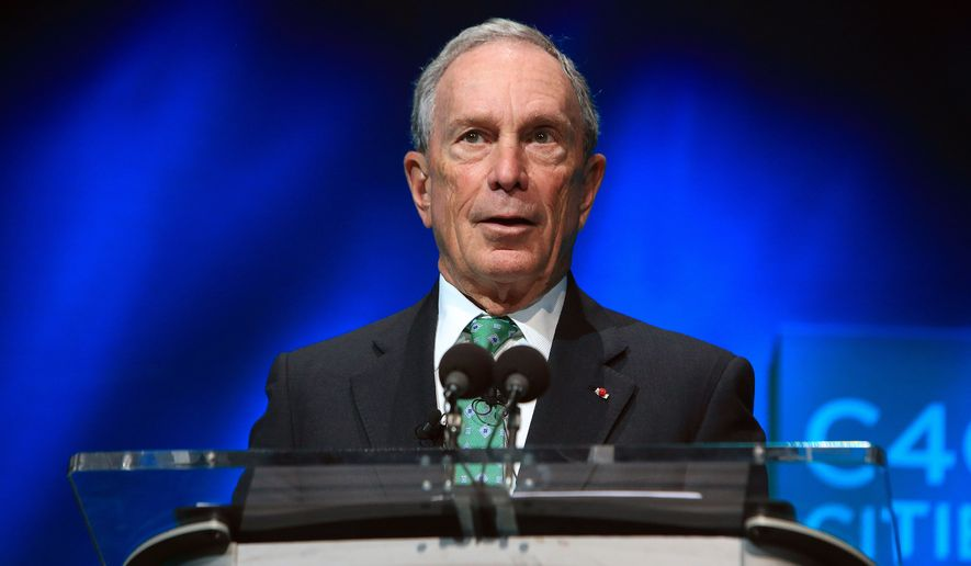 "Michael Bloomberg said he thinks he could win some states but ""not enough to win the 270 Electoral College votes necessary to win the presidency."" (Associated Press)"