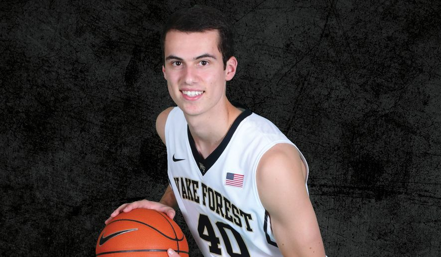 Wake Forest freshman Anthony Bilas poses for a photo prior to the start of the 2015-16 college basketball season. (Courtesy Wake Forest athletics)