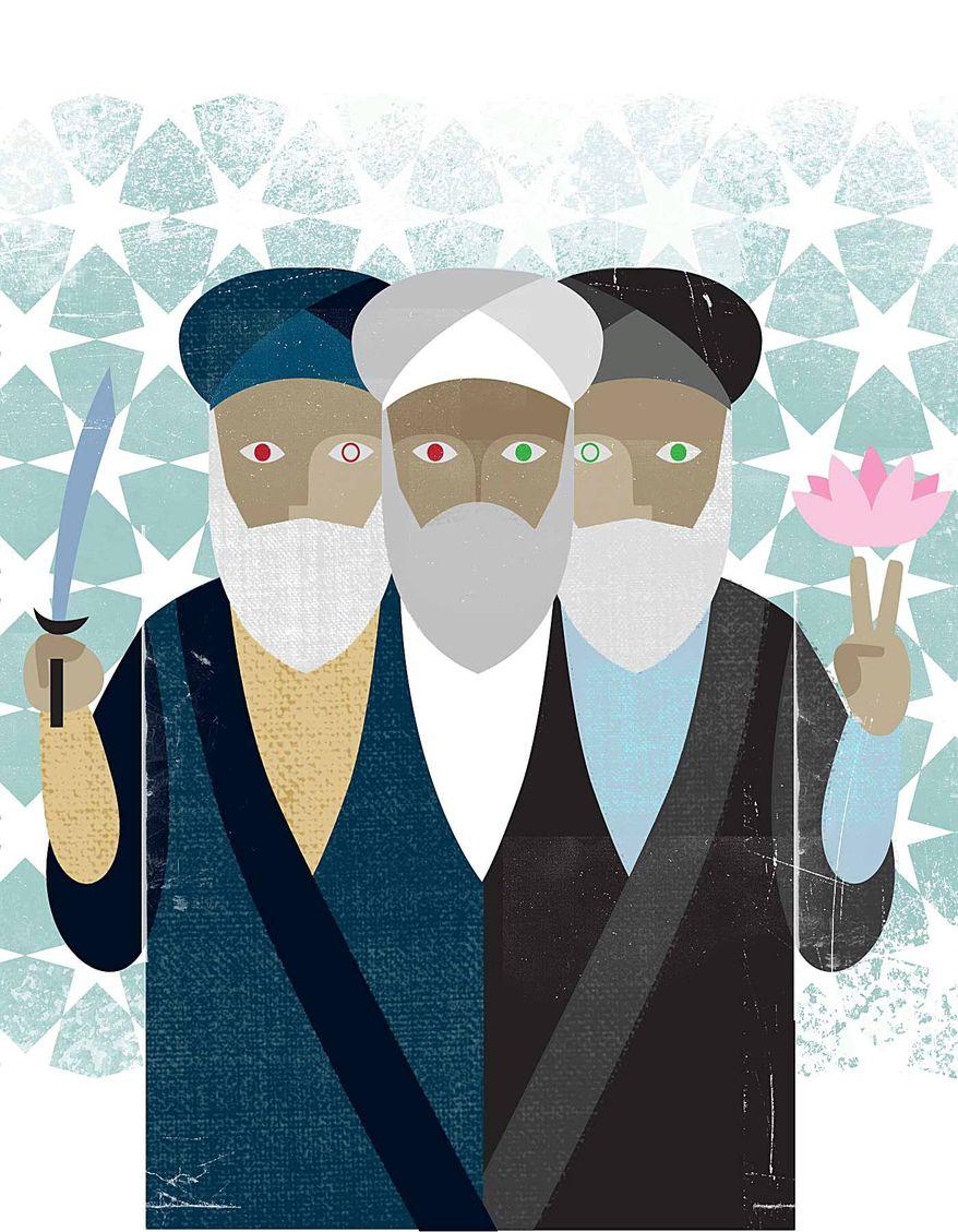 Illustration on so-called Iranian moderates by Linas Garsys/The Washington Times
