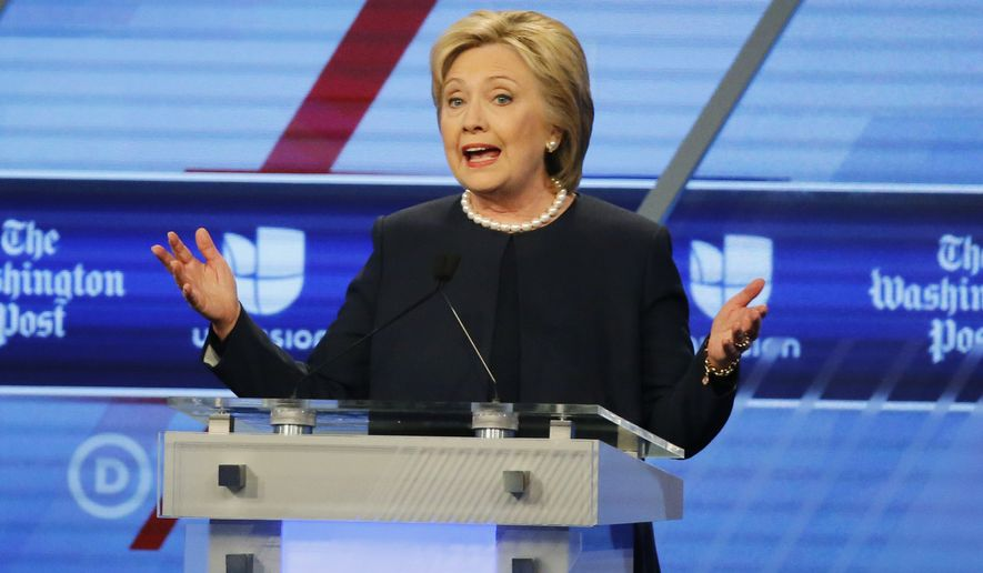 At the debate, Hillary Clinton again said the messages were retroactively classified, and she stood by her claim that she never knowingly sent or received classified information. (Associated Press)