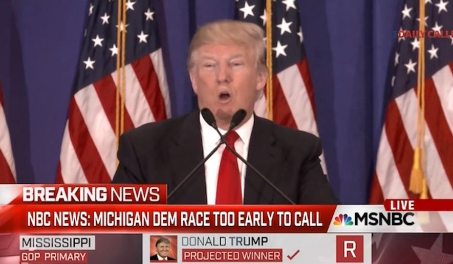 Donald Trump heckled a reporter during a press conference Tuesday after he reportedly asked the Republican presidential front-runner to defend his harsh rhetoric on the campaign trail. (MSNBC via The Daily Caller)
