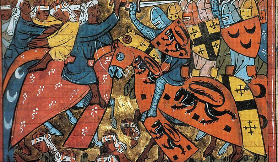 Historic Crusades painting