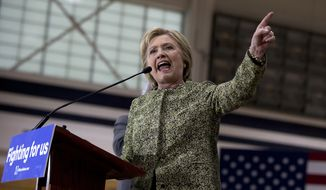 Democratic presidential candidate Hillary Clinton speaks at campaign event at Hillside High School in Durham, N.C., Thursday, March 10, 2016. (AP Photo/Carolyn Kaster)