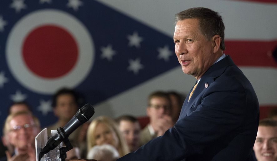 Critical tea partyers and conservative activists say Gov. John Kasich himself has become the establishment in Ohio. (Associated Press)
