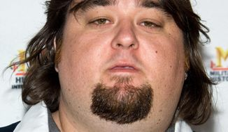 "In this May 5, 2010, file photo, Chumlee of the reality cable TV show ""Pawn Stars,"" whose given name is Austin Lee Russell, arrives at A&E Television Network's Upfront in New York. (AP Photo/Charles Sykes, File)"