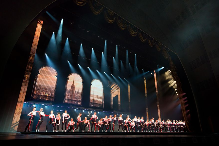"""This image released by MSG Entertainment Holdings, LLC  shows dancers on stage for the upcoming summer show, """"New York Spectacular Starring The Radio City Rockettes,"""" in New York. The show will run from June 15 though Aug. 7 at Radio City Music Hall. (MSG Entertainment Holdings, LLC via AP)"""