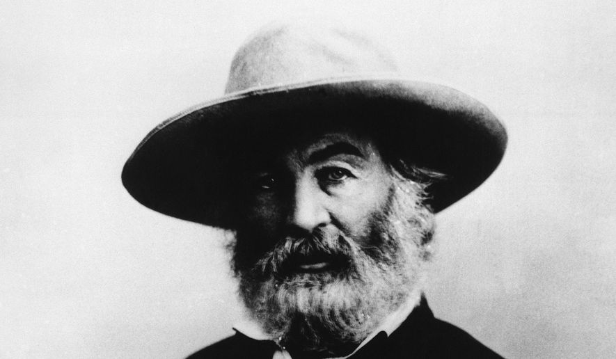 "In this undated image provided by The Library of America, American writer Walt Whitman is seen. A  rare Whitman ""soldier letter,"" one of only three known to exist, was discovered last month by a National Archives volunteer who is part of a team preparing Civil War widows' pension files to be digitized and placed online. (AP Photo/The Library of America) **FILE**"