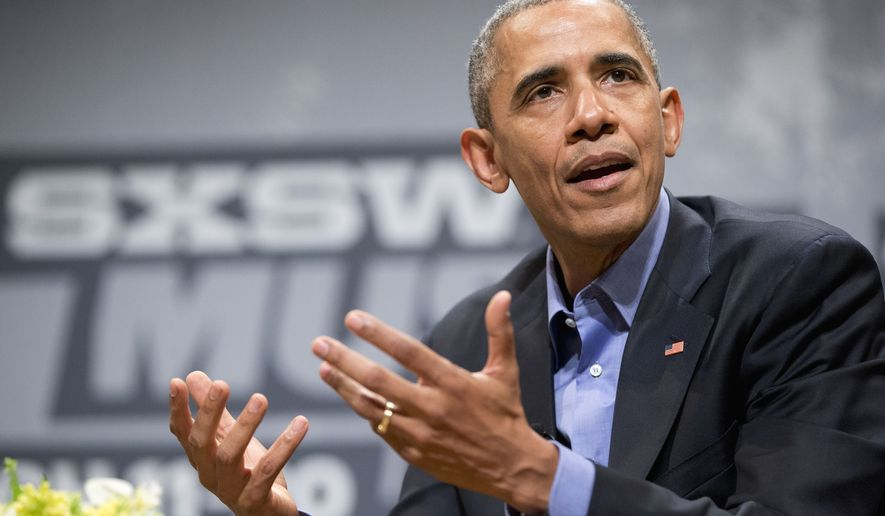 President Barack Obama speaks at the South by Southwest Festival (SXSW), Friday, March 11, 2016, at the Center for Performing Arts in Austin, Texas. (AP Photo/Pablo Martinez Monsivais)