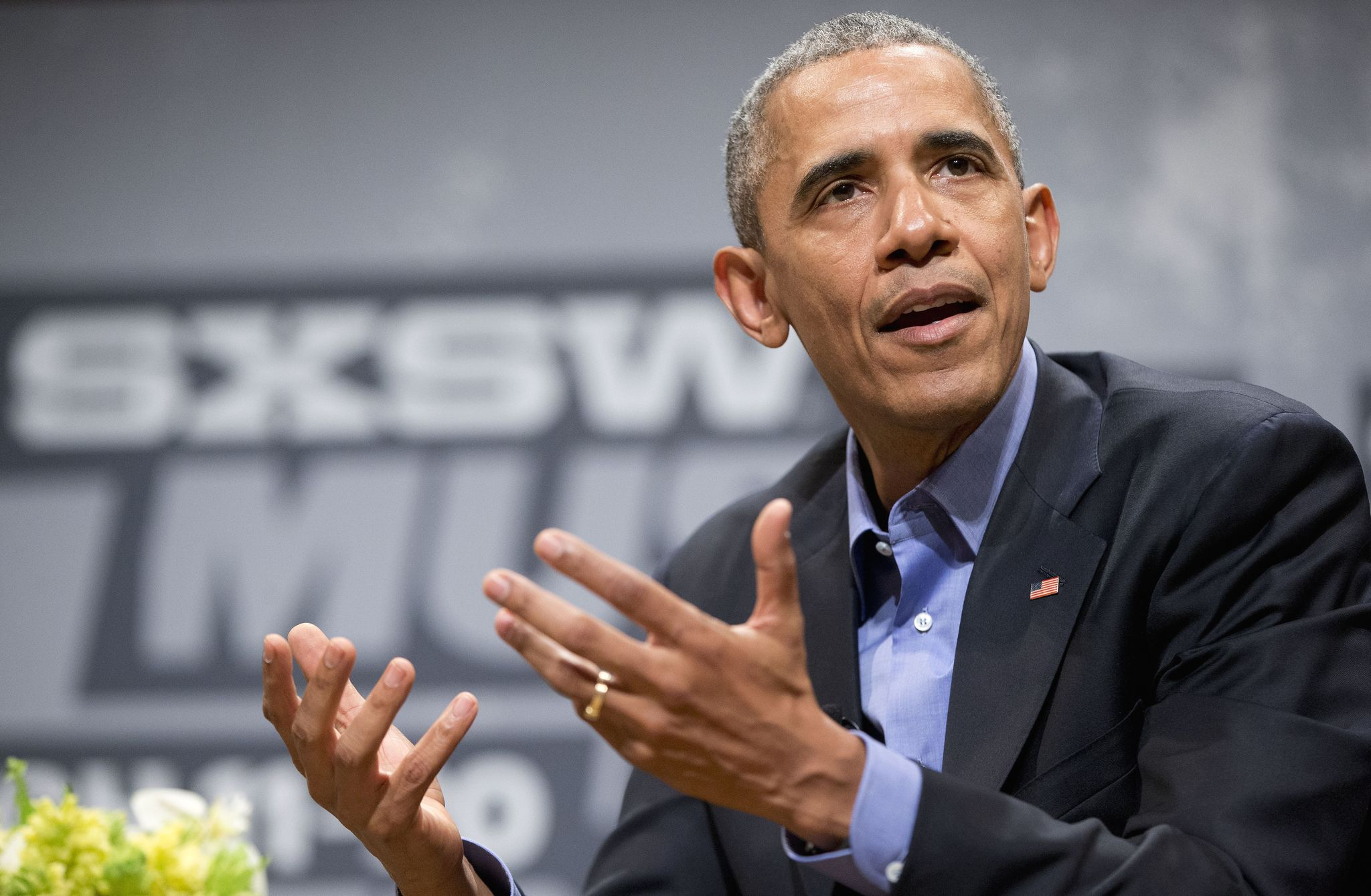 At SXSW, Obama thanks himself for the economic stimulus law