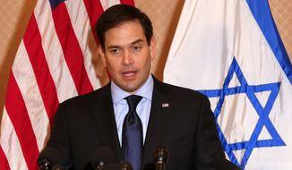 Republican presidential candidate, Sen. Marco Rubio, R-Fla. speaks at Temple Beth El in Palm Beach, Fla., Friday, March 11, 2016. (AP Photo/Paul Sancya)