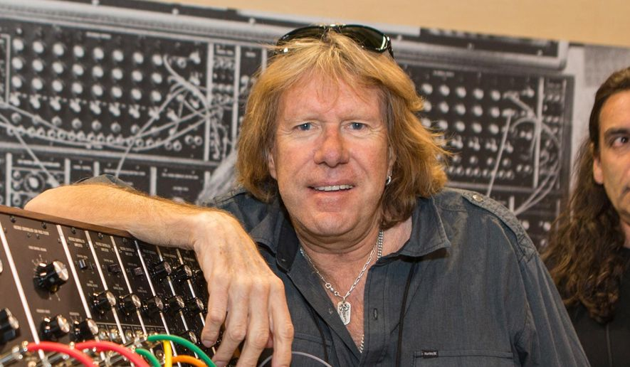 In this Jan. 23, 2015, file photo, Keith Emerson attends the 2015 National Association of Music Merchants (NAMM) show in Anaheim, Calif. Emerson, the keyboardist and founding member of the 1970s progressive rock group Emerson, Lake and Palmer, died Thursday, March 10, 2016, at home in Santa Monica, Calif. He was 71.  (Photo by Paul A. Hebert/Invision/AP, File)
