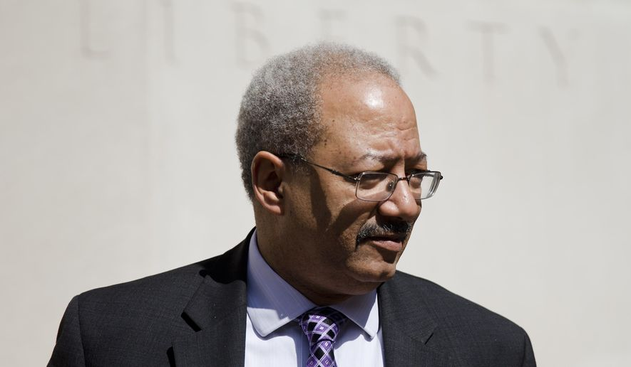 U.S. Rep. Chaka Fattah, D-Pa., walks from the federal courthouse Friday, March 11, 2016, in Philadelphia. New lawyers for the indicted Pennsylvania congressman say they won't try to delay the May 2 trial if they lose their bid to have the corruption case dismissed. The 11-term Philadelphia Democrat is accused of accepting bribes and misusing campaign funds and charitable grants to enrich his family and friends. (AP Photo/Matt Rourke)