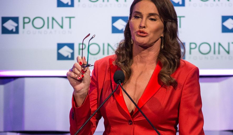 In this Saturday, Oct. 3, 2015 photo, Caitlyn Jenner speaks during the Voices on Point Gala in Los Angeles. Since coming out in 2015, Jenner has not always been a unifying force in the transgender community. Her latest political remarks _ underscoring her conservative outlook and praising Republican presidential candidate Ted Cruz _ ignited a storm of criticism from supporters of transgender rights, who view most conservative Republicans as adversaries. (Photo by Paul A. Hebert/Invision/AP)