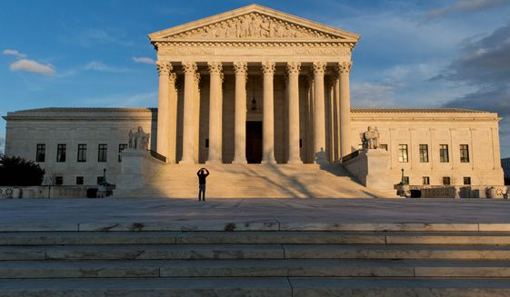 "The Supreme Court would flip from narrow conservative control to a 5-4 liberal majority with a justice nominated by President Obama. Conservatives are campaigning to ""let the people decide"" with the November election. (Associated Press)"