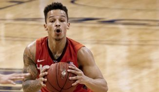 Virginia Tech's Seth Allen (4) plays against Pittsburgh during an NCAA college basketball game, Sunday, Jan. 31, 2016, in Pittsburgh. (AP Photo/Keith Srakocic)
