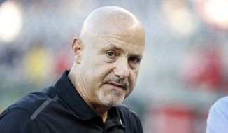 Washington Nationals general manager Mike Rizzo had his contract option picked up on Saturday. (AP Photo/Alex Brandon)