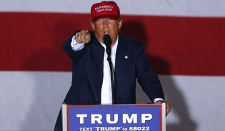 Republican presidential candidate Donald Trump speaks during a campaign rally in Boca Raton, Fla., Sunday, March 13, 2016. (AP Photo/Paul Sancya)