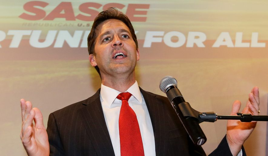 A report by Sen. Ben Sasse, Nebraska Republican, said Obamacare exchanges had nearly 6 percent fewer insurers competing on them in 2016. (Associated Press)