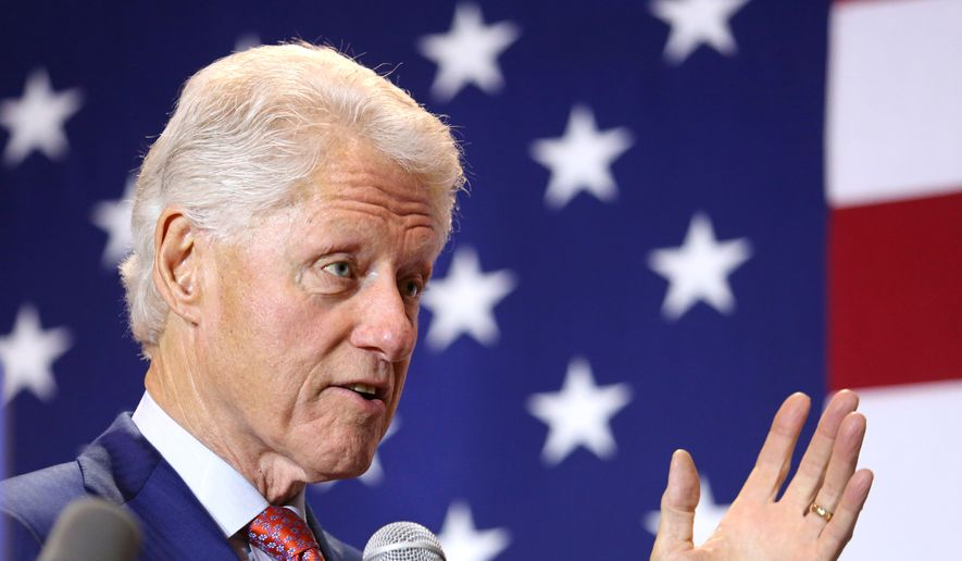 Former President Bill Clinton delivers remarks at Rollins College in Winter Park, Fla., on behalf of Democratic presidential candidate Hillary Clinton on Monday, March 14, 2016. (Joe Burbank/Orlando Sentinel via AP) MANDATORY CREDIT