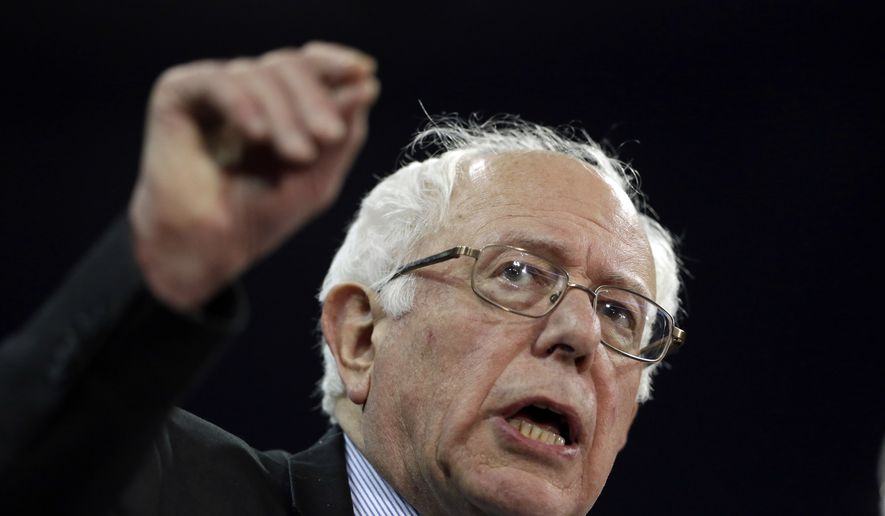 Democratic presidential candidate, Sen. Bernie Sanders, I-Vt., speaks at a campaign rally at The Family Arena Monday, March 14, 2016, in St. Charles, Mo. (AP Photo/Jeff Roberson)