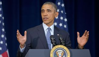 """There are those who criticize our commitment to diplomacy, for investing so much effort in trying to resolve conflicts that seem intractable,"" President Obama said. ""But here's the truth: Conflicts and wars do not end on their own. Breakthroughs do not just happen. Agreements don't write themselves. It takes diplomacy, being willing to sit down with others."" (Associated Press)"