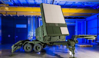 Raytheon's re-engineered Patriot radar prototype uses two key technologies - active electronically scanned array, which changes the way the radar searches the sky; and gallium nitride circuitry, which uses energy efficiently to amplify the radar's high-power radio frequencies (PRNewsFoto/Raytheon Company)