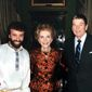 Yakov Smirnoff (left) was friendly with the Reagans during the 1980s and after.  (courtesy of Yakov Smirnoff)