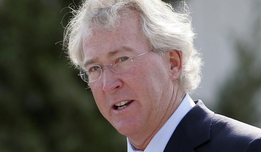 FILE - In a Sept. 8, 2009, file photo, Chesapeake Energy Corp. CEO Aubrey McClendon speaks during the opening of a compressed natural gas filling station in Oklahoma City. Oklahoma City police are to release a report on the crash that killed energy executive McClendon. (AP Photo/File)