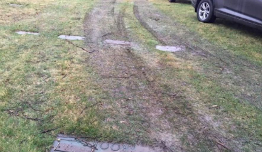 Police in central Illinois are investigating after people looking for parking at a Donald Trump rally drove their vehicles over several grave markers at a private cemetery on Sunday. (WICS)