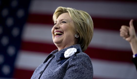 Networks called the North Carolina contest for Hillary Clinton at 8:15 p.m. (Associated Press)