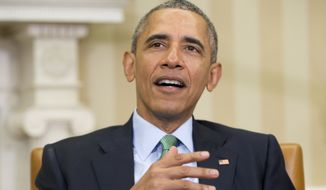"President Obama told a bipartisan group of lawmakers that he is ""more than a little dismayed about what's happening on the campaign trail lately."" (Associated Press)"