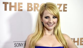 "Melissa Rauch, a cast member and co-writer of ""The Bronze,"" poses at the premiere of the film at the Pacific Design Center on Monday, March 7, 2016, in West Hollywood, Calif. (Photo by Chris Pizzello/Invision/AP)"