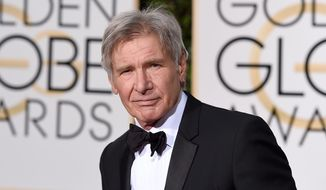 Harrison Ford arrives at the 73rd annual Golden Globe Awards at the Beverly Hilton Hotel in Beverly Hills, Calif., in this Jan. 10, 2016, file photo. (Photo by Jordan Strauss/Invision/AP)