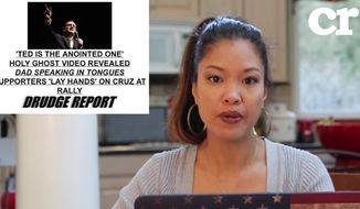 Conservative columnist Michelle Malkin has accused Matt Drudge of bashing Sen. Ted Cruz for his Christian faith following a series of irreverent headlines on The Drudge Report. (Youtube/@Conservative Review)