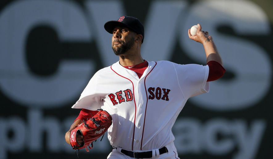 Boston Red Sox's David Price (24) works against the New York Yankees in the first inning of a spring training baseball game, Tuesday, March 15, 2016, in Fort Myers, Fla. (AP Photo/Tony Gutierrez)