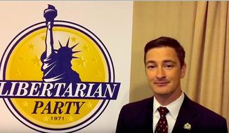 "Libertarian Party chairman Nicholas Sarwark says disenchanted ""refugees"" from the Republican and Democratic parties should consider a third party."