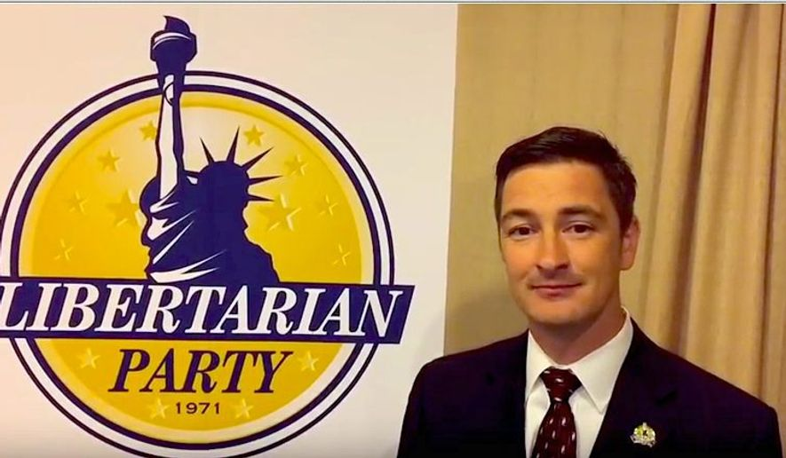 """Libertarian Party chairman Nicholas Sarwark says disenchanted """"refugees"""" from the Republican and Democratic parties should consider a third party."""