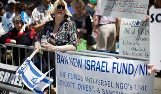 Opponents of the Boycott, Divestment and Sanctions movement are winning support in state legislatures, where bills to penalize companies that target Israel are garnering bipartisan support. (Associated Press)