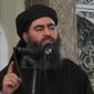 "Abu Bakr al-Baghdadi has been a target of U.S. military and intelligence officials since he emerged as the so-called ""caliph"" of the Islamic State in 2014. (Associated Press)"