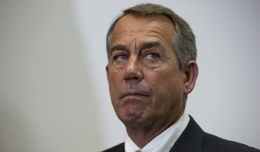 Former House Speaker John A. Boehner. (Associated Press) ** FILE **