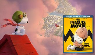 "Snoopy battles the Red Baron in ""The Peanuts Movie,"" now available on Blu-ray from 20th Century Fox Home Entertainment."