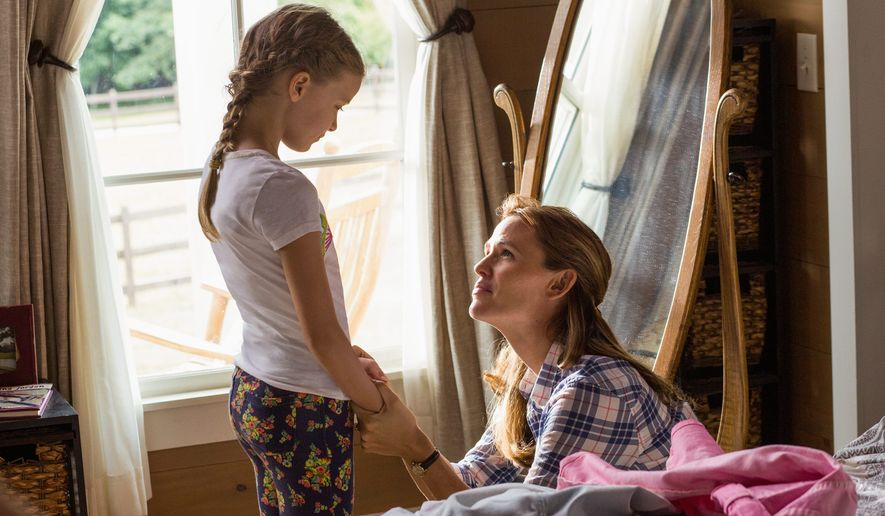 """Kylie Rogers (left) and Jennifer Garner star in """"Miracles From Heaven,"""" the latest Hollywood effort to cash in on the biblical genre. Critics say such films take too many liberties and miss the larger point of the Gospel. (Associated Press)"""