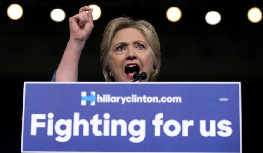 """Now I think it's time to turn our attention to comprehensive immigration reform,"" Hillary Clinton said, using the term immigrant-rights advocates use for legislation to legalize the 11 million illegal immigrants now in the country. (Associated Press)"
