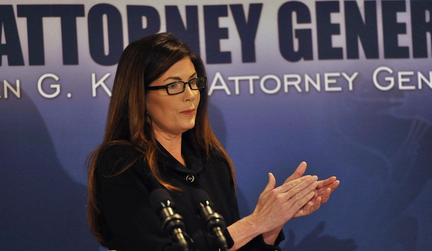 Attorney General Kathleen Kane announces criminal conspiracy charges against several leaders of the Franciscan Order on Tuesday, March 15, 2016, in Johnstown, Pa. Three ex-leaders of the Franciscan religious order were charged Tuesday with allowing a friar who was a known sexual predator to take on jobs, including a position as a high school athletic trainer, that enabled him to molest more than 100 children. (Todd Berkey/The Tribune-Democrat via AP) MANDATORY CREDIT