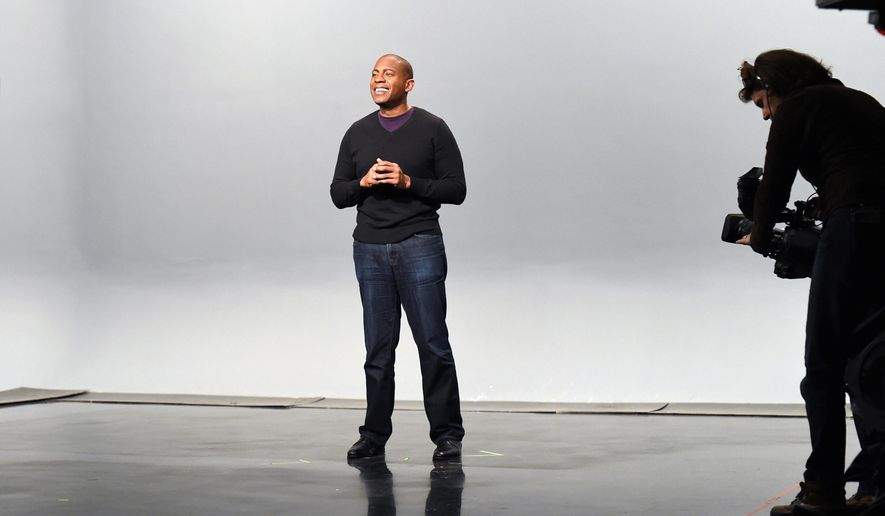 "This undated image released by PBS shows Carlos Watson, host of the new series, ""Point Taken,"" half-hour episodes focusing on a single topic, with guests including reporters, artists and experts exploring it from different sides. The series will air at 11 p.m. EDT beginning April 5. (Meredith Nierman/WGBH via AP)"