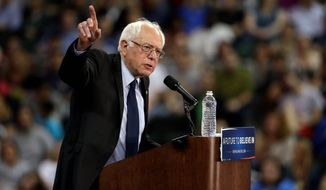 Bernard Sanders from the beginning has been considered a mere message candidate to some Democrats. (Associated Press)
