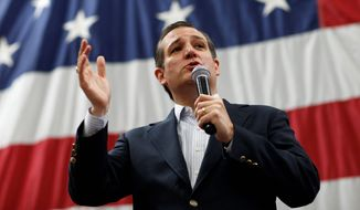 """Associated Press Sen. Ted Cruz calls President Obama's Cuba visit a """"gaudy spectacle."""" He is seen here at a campaign rally Saturday in Draper, Utah."""