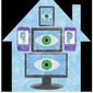 Illustration on tech companies and privacy by Alexander Hunter/The Washington Times