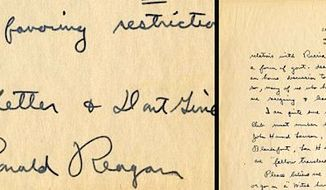 An undiscovered 1946 letter handwritten by future president Ronald Reagan has been valued at $17,500 (Raab Collection)
